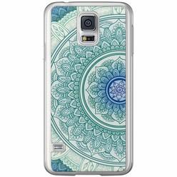Casimoda Samsung Galaxy S5 (Plus) / Neo siliconen hoesje - Mandala blauw