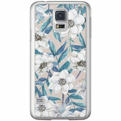 Casimoda Samsung Galaxy S5 (Plus) / Neo siliconen hoesje - Touch of flowers