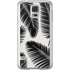 Casimoda Samsung Galaxy S5 (Plus) / Neo siliconen hoesje - Palm leaves silhouette