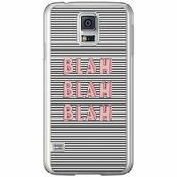Casimoda Samsung Galaxy S5 (Plus) / Neo siliconen hoesje - Blah blah blah