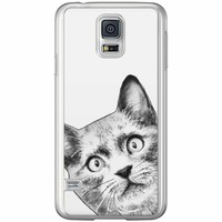 Casimoda Samsung Galaxy S5 (Plus) / Neo siliconen hoesje - Kiekeboe kat