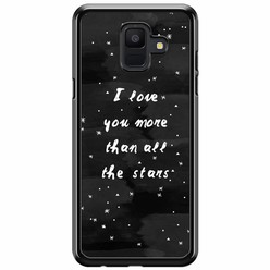 Samsung Galaxy A6 2018  hoesje - Stars love quote