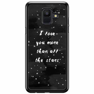 Casimoda Samsung Galaxy A6 2018  hoesje - Stars love quote