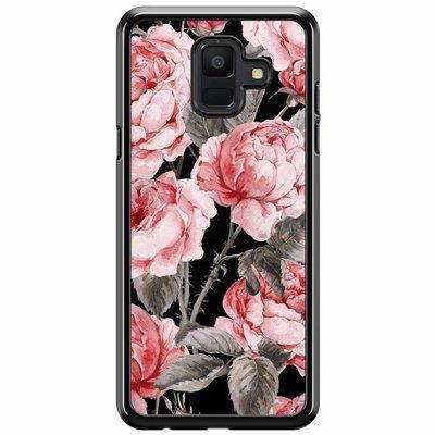 Casimoda Samsung Galaxy A6 2018  hoesje - Moody florals