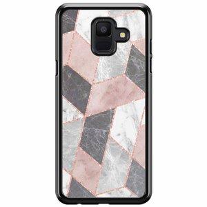 Samsung Galaxy A6 2018  hoesje - Stone grid