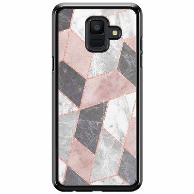 Casimoda Samsung Galaxy A6 2018  hoesje - Stone grid
