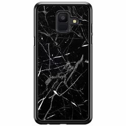 Samsung Galaxy A6 2018  hoesje - Marmer zwart