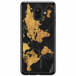Samsung Galaxy A6 2018  hoesje - Wereldmap