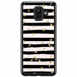 Samsung Galaxy A6 2018  hoesje - Hart streepjes