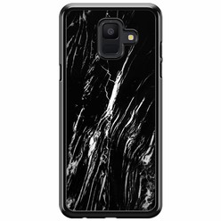 Samsung Galaxy A6 2018  hoesje - Black marble