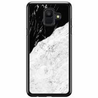 Samsung Galaxy A6 2018  hoesje - Marmer zwart grijs