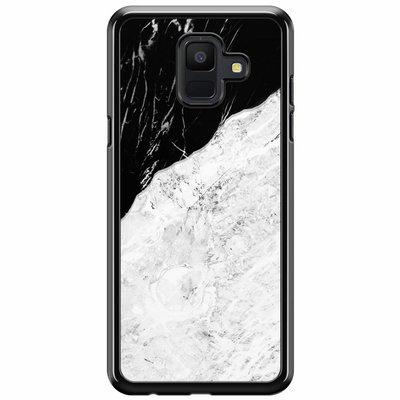 Casimoda Samsung Galaxy A6 2018  hoesje - Marmer zwart grijs