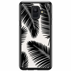 Samsung Galaxy A6 2018  hoesje - Palm leaves silhouette