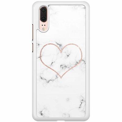 Casimoda Huawei P20  hoesje - Marmer hart