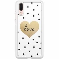Huawei P20 hoesje - Love dots