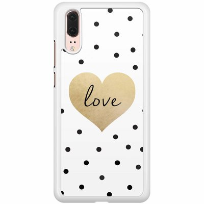 Casimoda Huawei P20  hoesje - Love dots