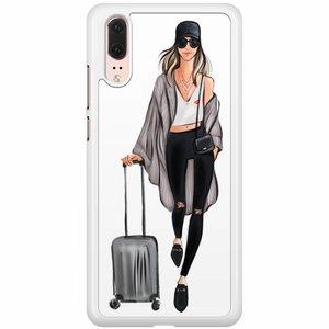 Huawei P20 hoesje - Travel girl