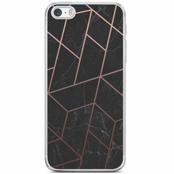 iPhone 5/5S/SE siliconen hoesje - Marble grid