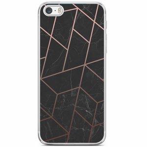 Casimoda iPhone 5/5S/SE siliconen hoesje - Marble grid