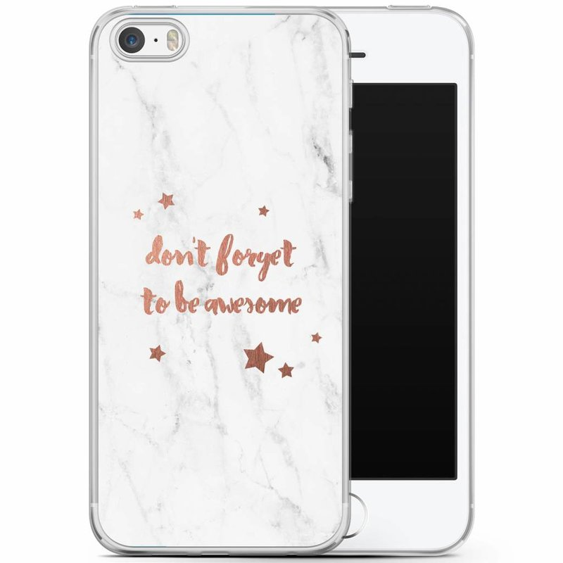 Casimoda iPhone 5/5S/SE siliconen hoesje - Be awesome