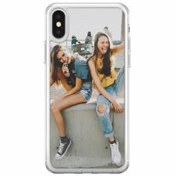 iPhone X/XS softcase transparant - Softcase met eigen foto