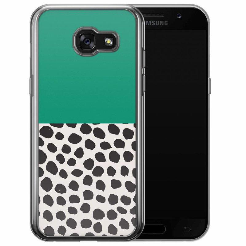 Casimoda Samsung Galaxy A5 2017 siliconen hoesje - Wild dots
