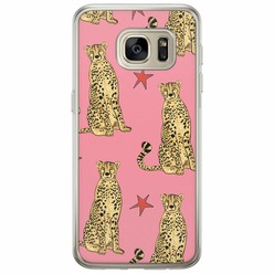 Samsung Galaxy S7 siliconen hoesje - The pink leopard
