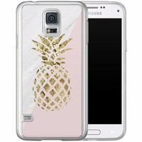 Casimoda Samsung Galaxy S5 (Plus) / Neo siliconen hoesje - Ananas