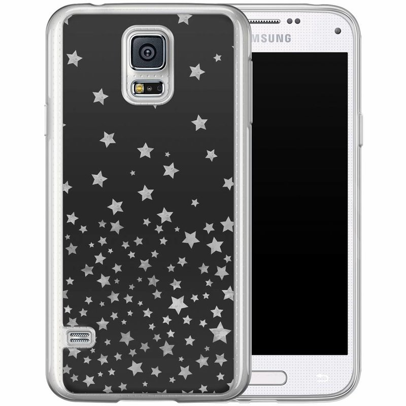 Casimoda Samsung Galaxy S5 (Plus) / Neo siliconen hoesje - Falling stars