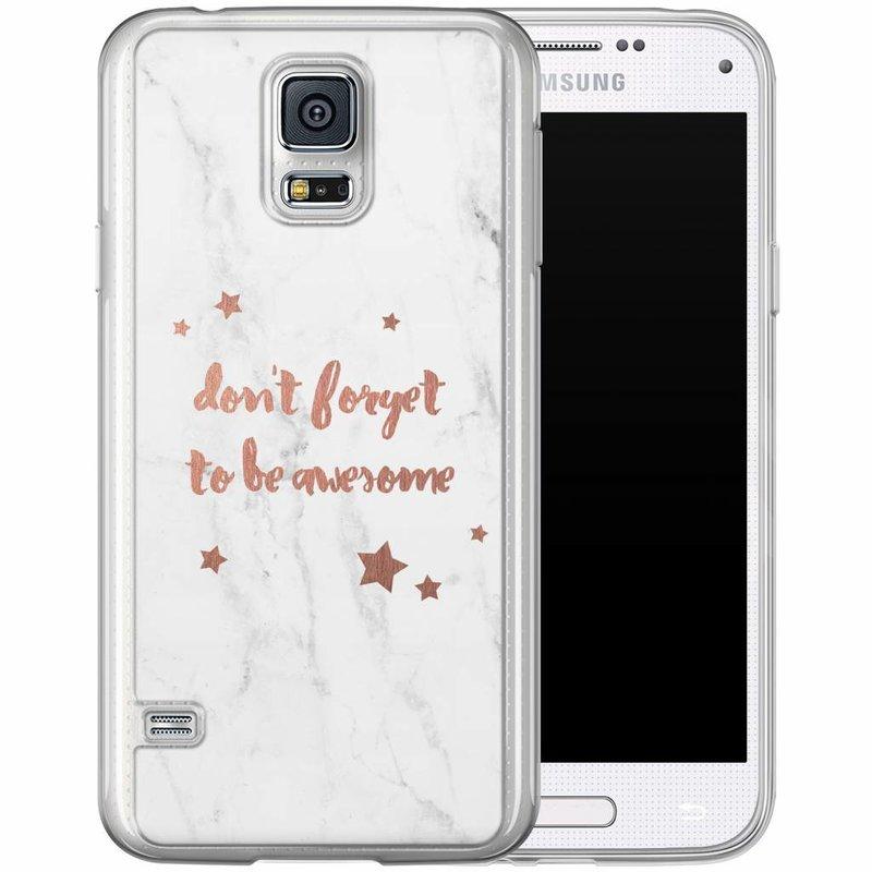 Casimoda Samsung Galaxy S5 (Plus) / Neo siliconen hoesje - Be awesome