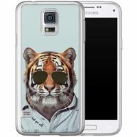Casimoda Samsung Galaxy S5 (Plus) / Neo siliconen hoesje - Tijger wild