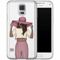 Casimoda Samsung Galaxy S5 (Plus) / Neo siliconen hoesje - Summer girl