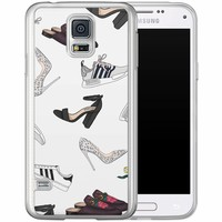 Casimoda Samsung Galaxy S5 (Plus) / Neo siliconen hoesje - Shoe stash