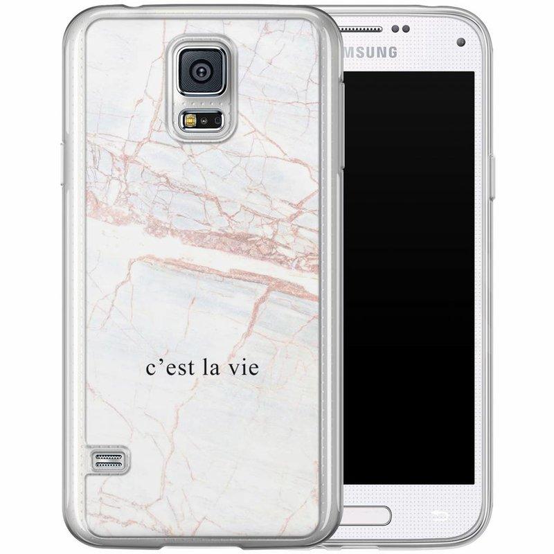 Casimoda Samsung Galaxy S5 (Plus) / Neo siliconen hoesje - C'est la vie