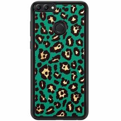 Huawei P Smart hoesje - Luipaard groen