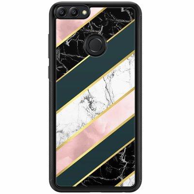 Casimoda Huawei P Smart hoesje - Marble stripes
