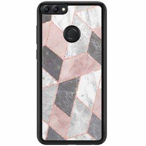 Huawei P Smart hoesje - Stone grid