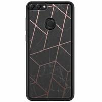 Huawei P Smart hoesje - Marble grid