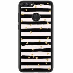 Casimoda Huawei P Smart hoesje - Hart streepjes