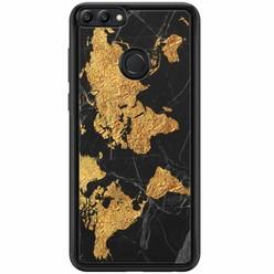 Huawei P Smart hoesje - Wereldmap