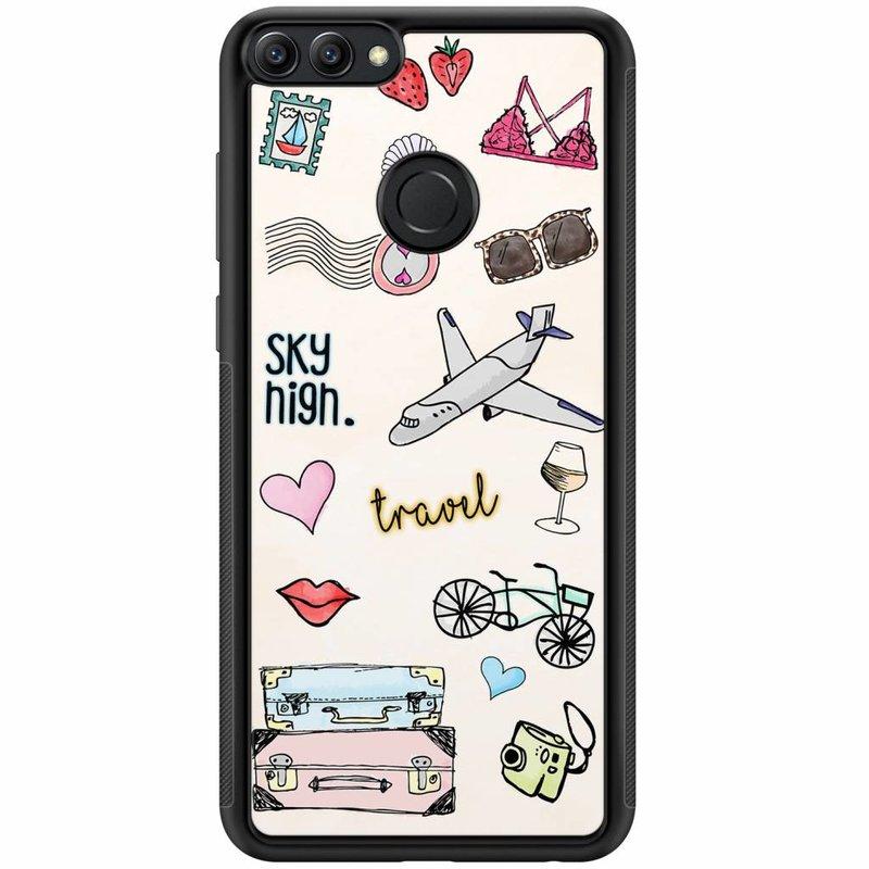 Huawei P Smart hoesje - Let's travel