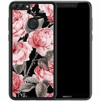 Huawei P Smart hoesje - Moody florals