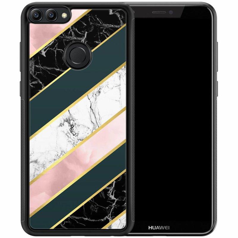 Huawei P Smart hoesje - Marble stripes