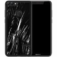 Casimoda Huawei P Smart hoesje - Black marble