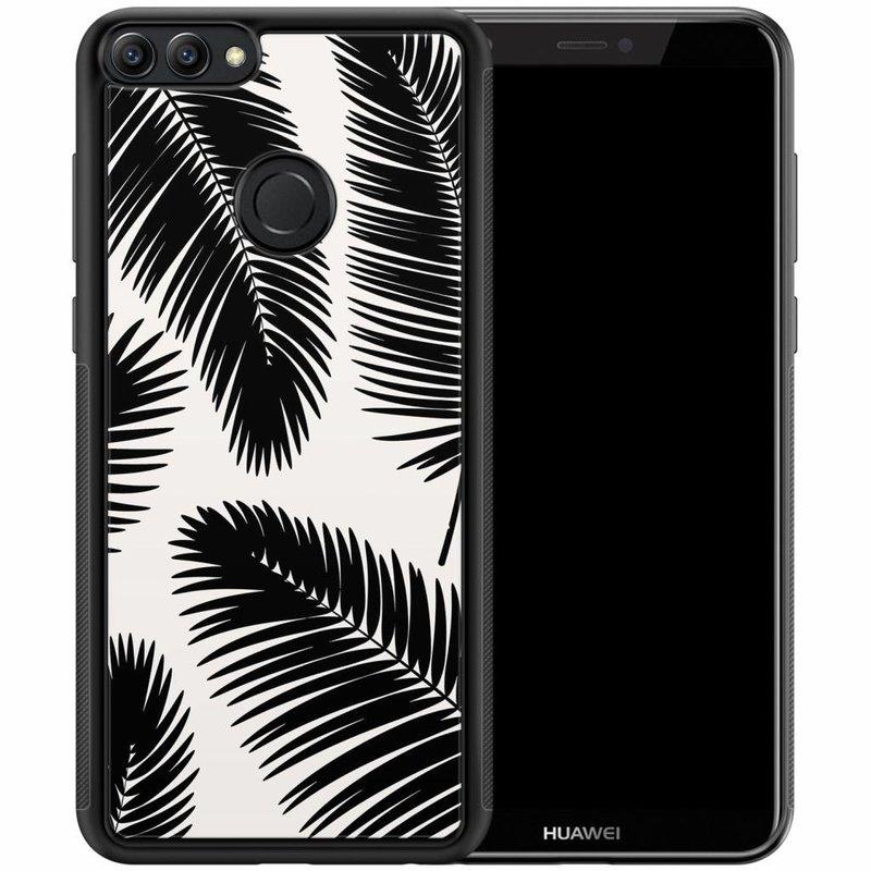 Huawei P Smart hoesje - Palm leaves silhouette
