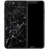 Huawei P Smart hoesje - Marmer zwart