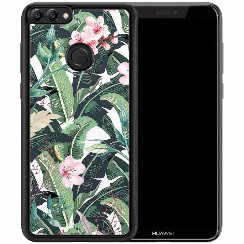 Casimoda Huawei P Smart hoesje - Tropical banana