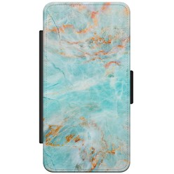Samsung Galaxy S5 (Plus)/ Neo flipcase - Turquoise marmer
