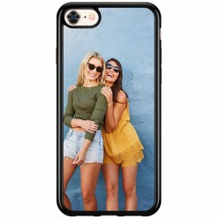 Casimoda iPhone 8/7 siliconen zwart - Softcase met jouw foto