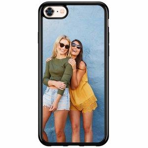iPhone 8/7 siliconen zwart - Softcase met jouw foto